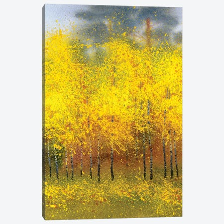 Autumn Birches In The Forest Canvas Print #DPT115} by Marinka Canvas Wall Art
