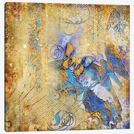 Vintage Background With Butterflies Canvas Print #DPT118} by Maugli Canvas Print