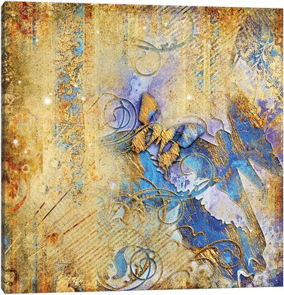 Vintage Background With Butterflies Canvas Art Print