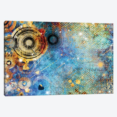 Turquoise Abstraction Canvas Print #DPT120} by Maugli Canvas Artwork