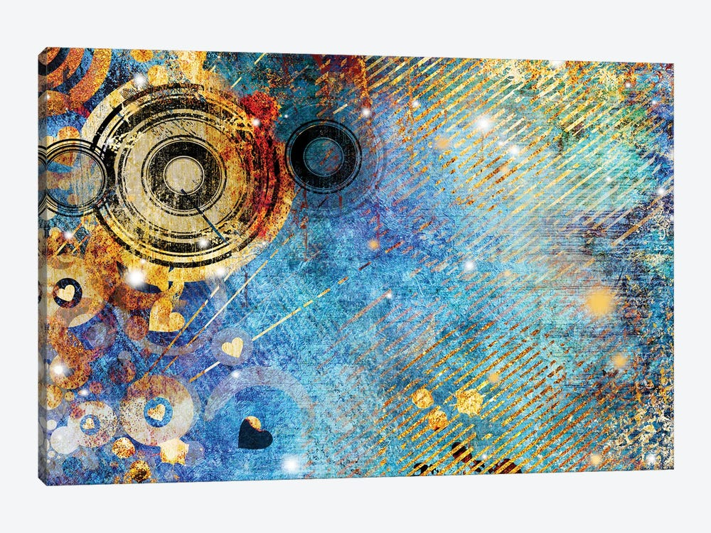 Turquoise Abstraction by Maugli 1-piece Canvas Wall Art