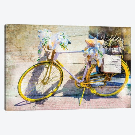 Vintage Bike, Retro Picture Canvas Print #DPT121} by Maugli Canvas Art