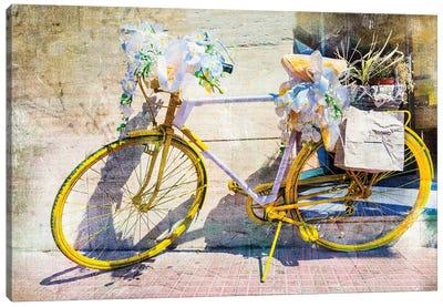 Vintage Bike, Retro Picture Canvas Art Print