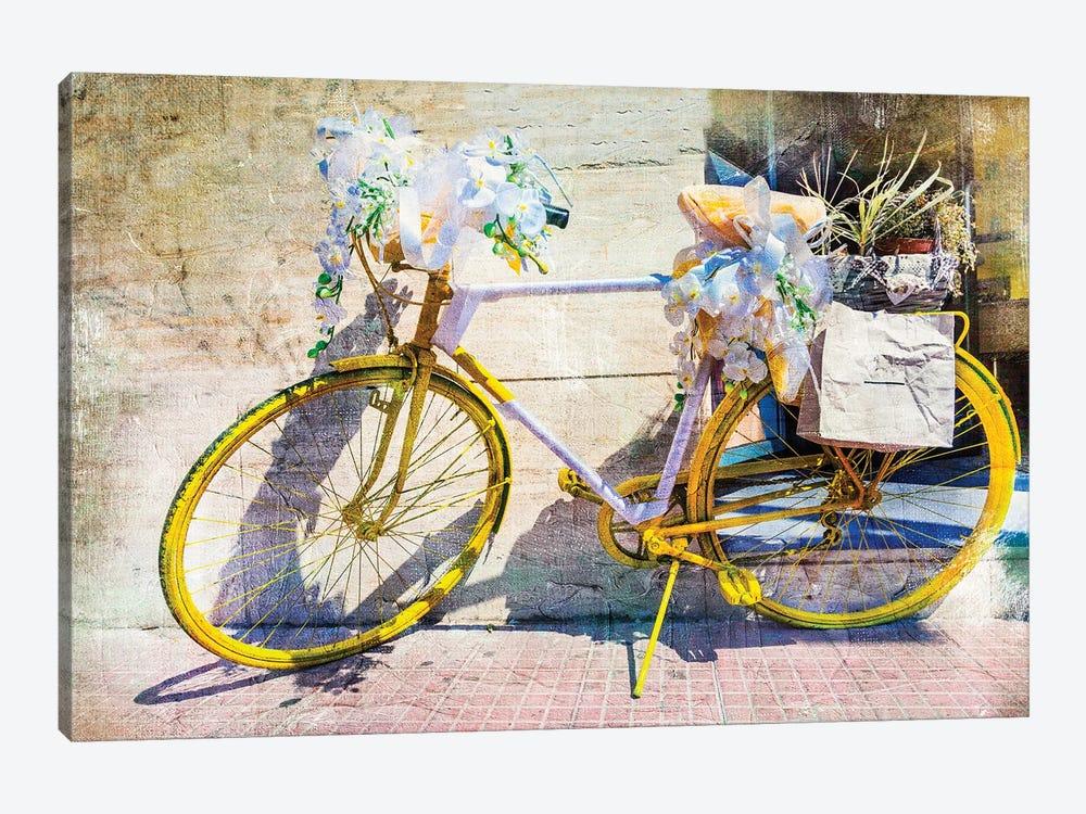 Vintage Bike, Retro Picture by Maugli 1-piece Canvas Art Print