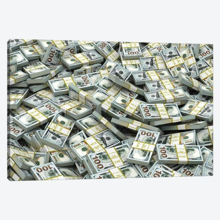 Packs Of Dollars Background. Lots Of Cash Money. Canvas Print #DPT123} by maxxyustas Canvas Art