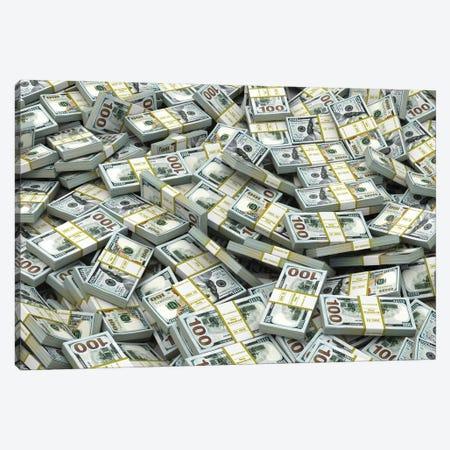 Packs Of Dollars Background. Lots Of Cash Money. Canvas Print #DPT123} by maxxyustas Canvas Art