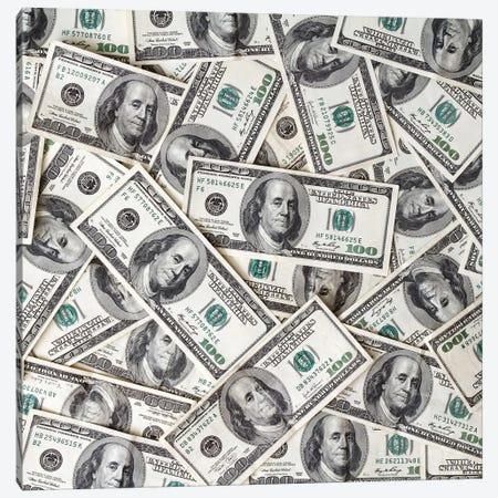Money Background Canvas Print #DPT124} by mblach Canvas Art Print