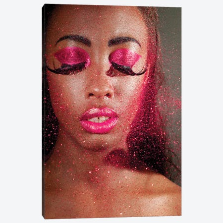 Woman In Creative Makeup And Glitter Canvas Print #DPT134} by nelka7812 Canvas Art