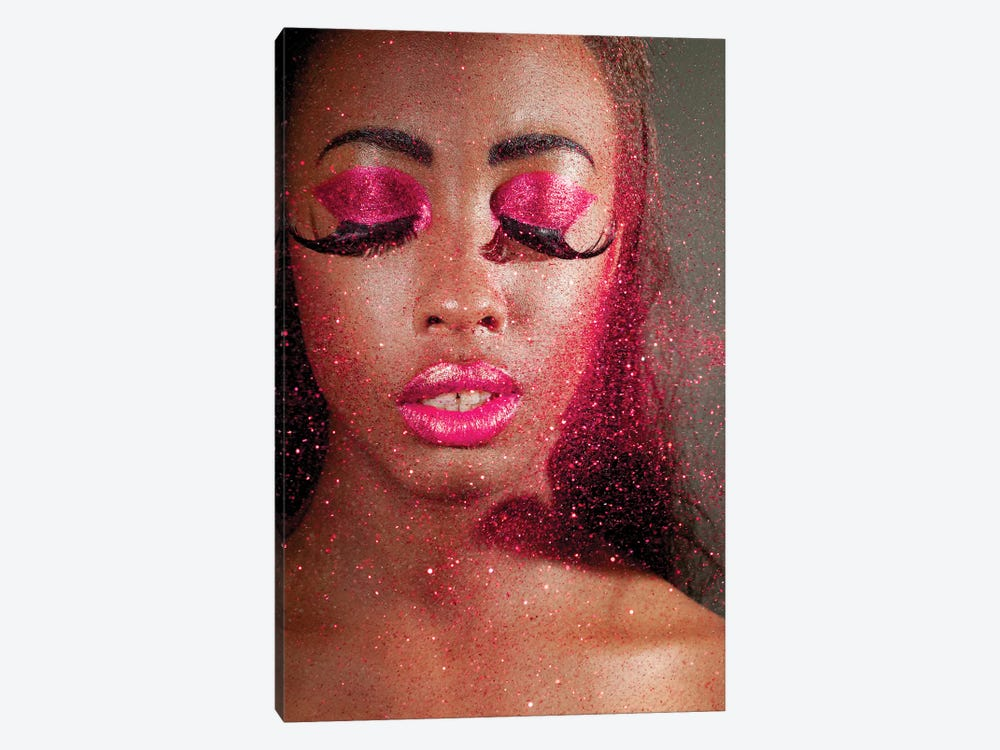Woman In Creative Makeup And Glitter by nelka7812 1-piece Canvas Print