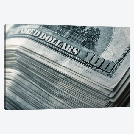 Stack Of Money Canvas Print #DPT137} by Nomadsoul1 Canvas Artwork