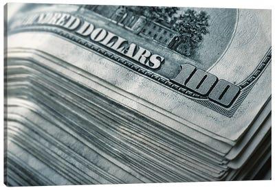 Stack Of Money Canvas Art Print