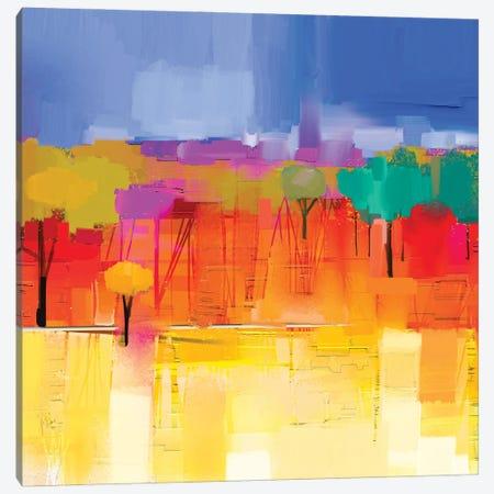 Colorful Landscape I Canvas Print #DPT138} by Nongkran ch Art Print