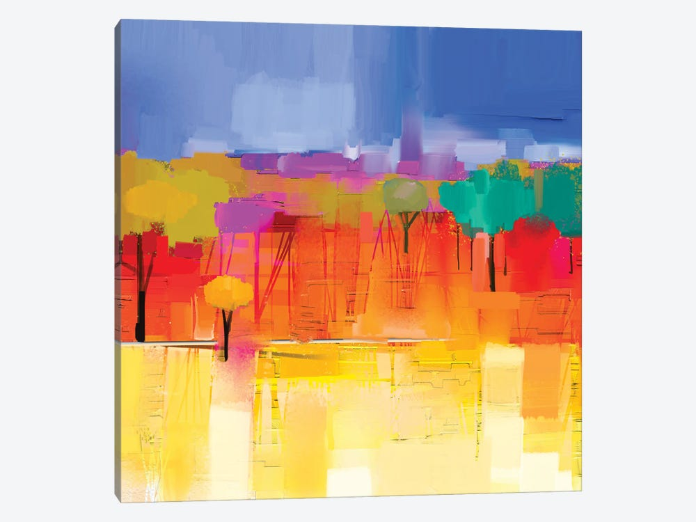 Colorful Landscape I by Nongkran ch 1-piece Art Print