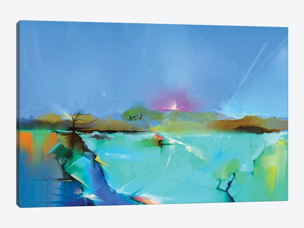 Colorful Landscape III by Nongkran ch 1-piece Canvas Artwork