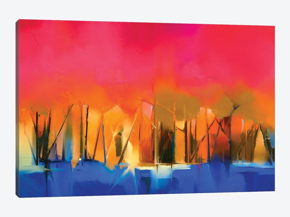 Colorful Landscape IV by Nongkran ch 1-piece Art Print