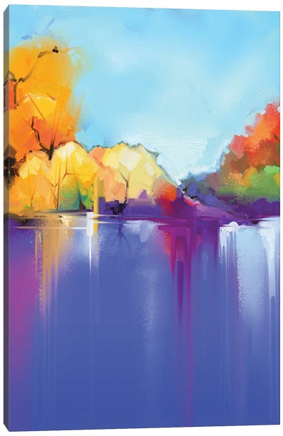 Abstract Oil Painting Landscape Background. Canvas Art Print