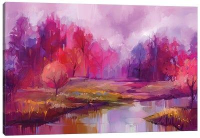 Autumn, Fall Season Nature Background Canvas Art Print