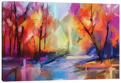 Colorful Autumn Trees I Canvas Art Print