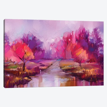 Colorful Autumn Trees II Canvas Print #DPT158} by Nongkran ch Canvas Art Print