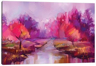 Colorful Autumn Trees II Canvas Art Print
