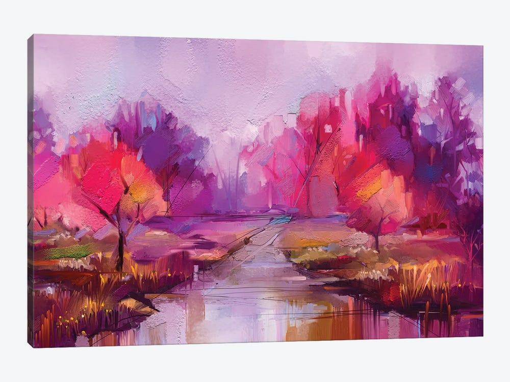 Colorful Autumn Trees II by Nongkran ch 1-piece Canvas Art Print
