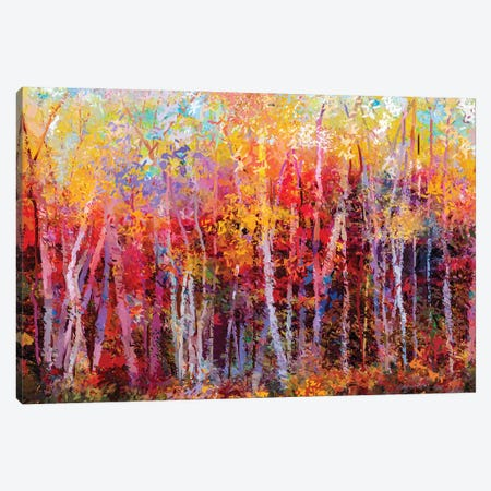 Colorful Autumn Trees III Canvas Print #DPT159} by Nongkran ch Canvas Art Print