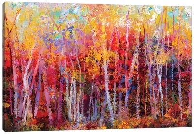 Colorful Autumn Trees III Canvas Art Print