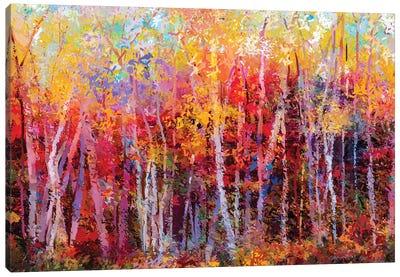Colorful Autumn Trees III Canvas Art Print