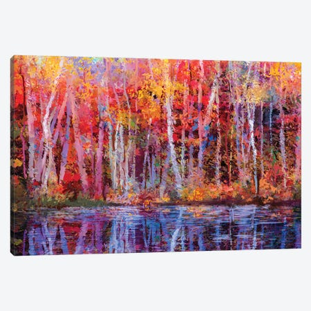 Colorful Autumn Trees IV Canvas Print #DPT160} by Nongkran ch Canvas Artwork