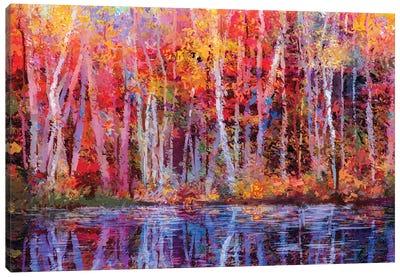 Colorful Autumn Trees IV Canvas Art Print