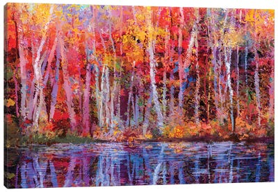 Colorful Autumn Trees IV Canvas Art Print
