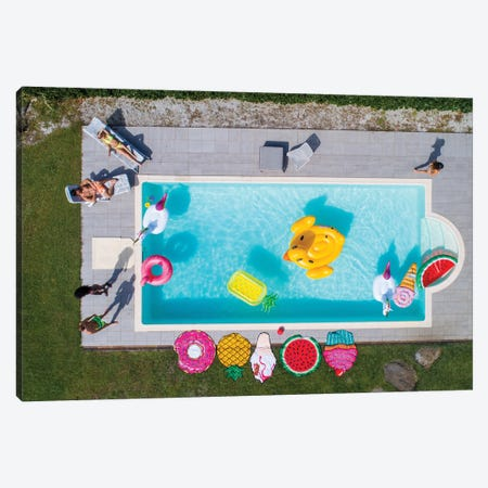 Friends Having Fun In A Swimming Pool I Canvas Print #DPT165} by oneinchpunch Canvas Art Print