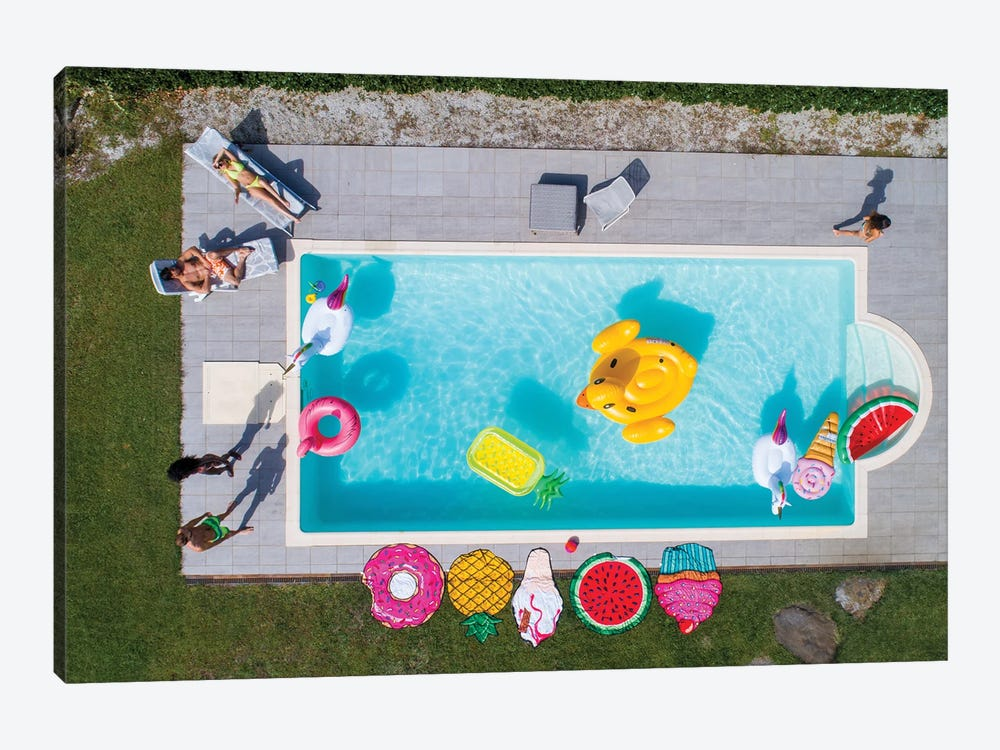 Friends Having Fun In A Swimming Pool I by oneinchpunch 1-piece Art Print