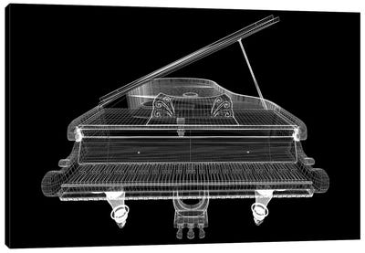 Antique Grand Piano With Path I Canvas Art Print