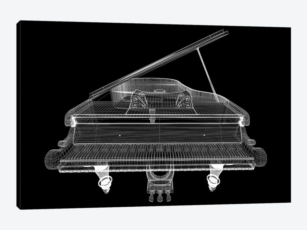 Antique Grand Piano With Path I by Podsolnukh 1-piece Canvas Print