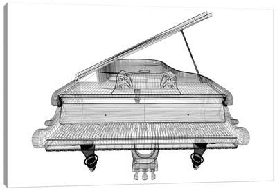 Antique Grand Piano With Path II Canvas Art Print