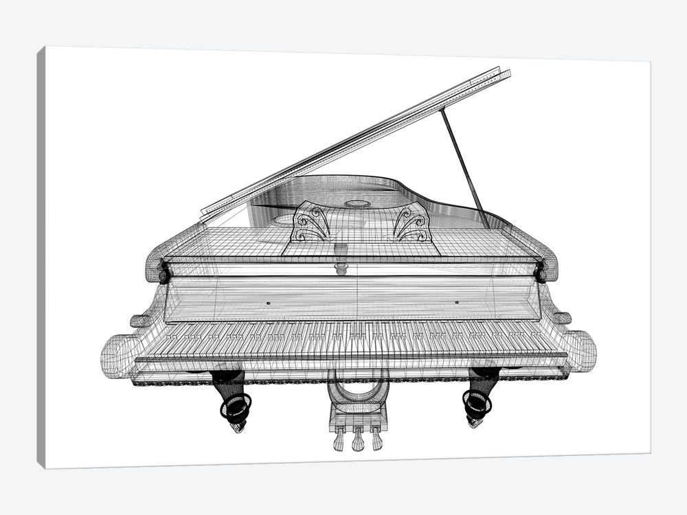 Antique Grand Piano With Path II by Podsolnukh 1-piece Canvas Art