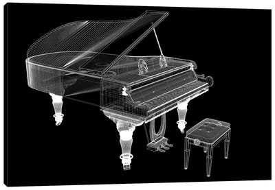 Antique Grand Piano With Path III Canvas Art Print
