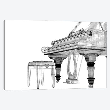 Antique Grand Piano With Path IV Canvas Print #DPT173} by Podsolnukh Art Print