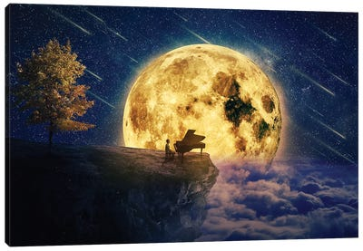 Midnight Piano Lullaby Canvas Art Print