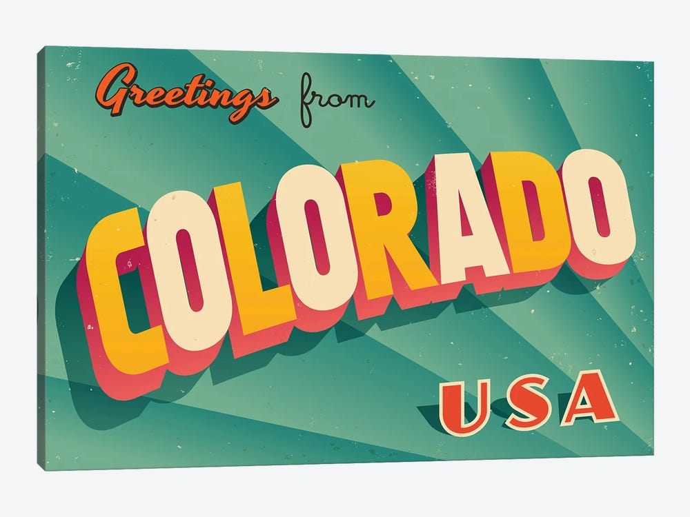 Greetings From Colorado by RealCallahan 1-piece Canvas Artwork