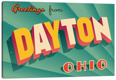 Greetings From Dayton Canvas Art Print