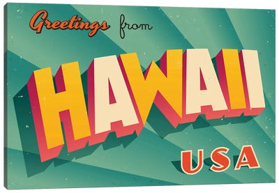 Greetings From Hawaii Canvas Art Print