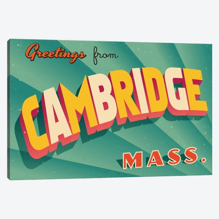 Greetings From Cambridge Canvas Print #DPT188} by RealCallahan Canvas Art