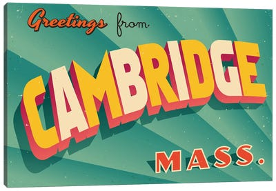 Greetings From Cambridge Canvas Art Print