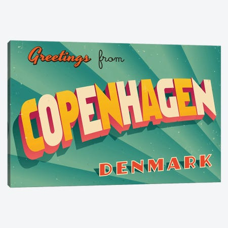 Greetings From Copenhagen Canvas Print #DPT189} by RealCallahan Canvas Artwork