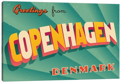 Greetings From Copenhagen Canvas Art Print