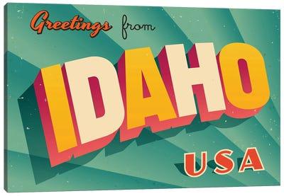 Greetings From Idaho Canvas Art Print