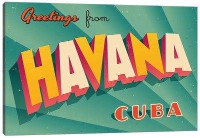Greetings From Havana Canvas Art Print