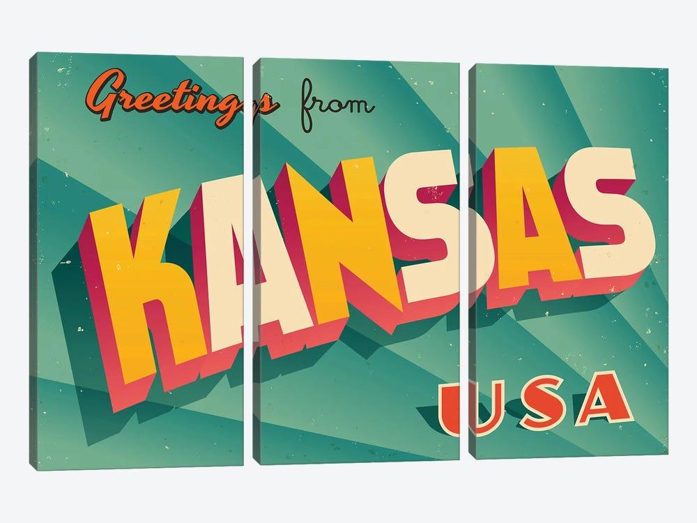 Greetings From Kansas by RealCallahan 3-piece Art Print